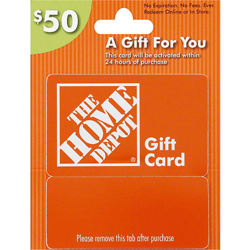 Home Depot Gift Card 50 Gift Cards Chief Markets