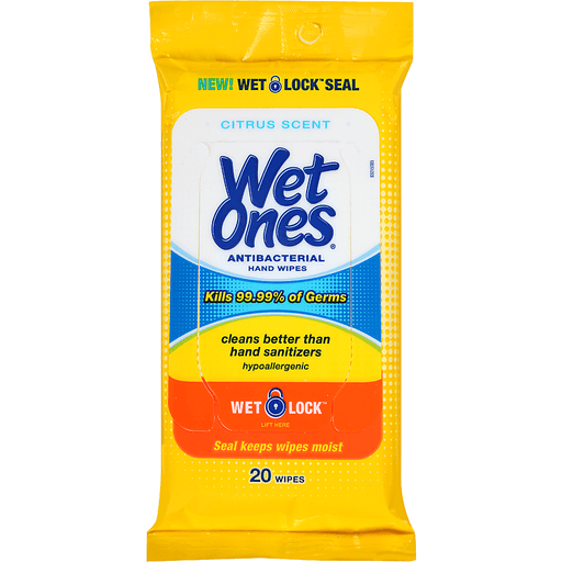 Wet Ones Hand Wipes, Antibacterial, Citrus Scent