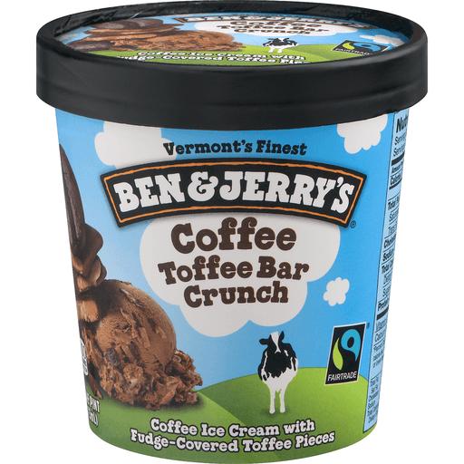 Ben & Jerrys Ice Cream, Coffee Toffee Bar Crunch