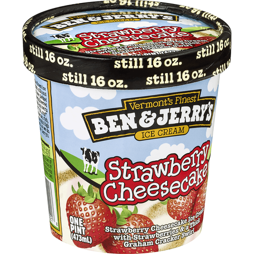 Ben & Jerrys Ice Cream, Strawberry Cheesecake