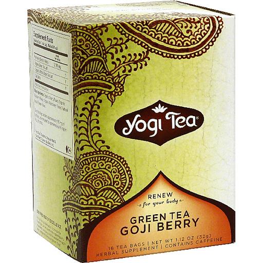 Yogi Green Tea Goji Berry Tea Shop Bevmo