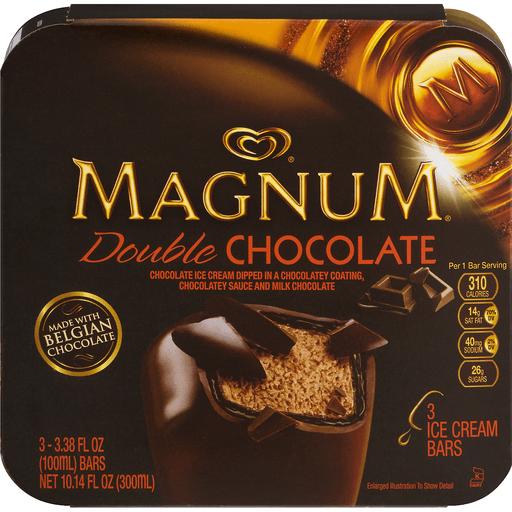 Magnum Ice Cream Bars Double Chocolate - 3 CT