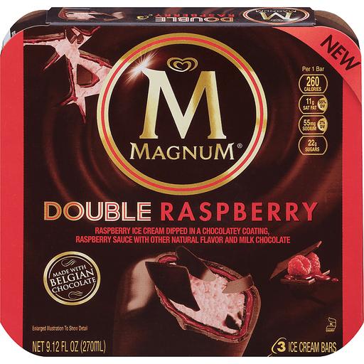 Magnum Double Raspberry Ice Cream Bars - 3 CT