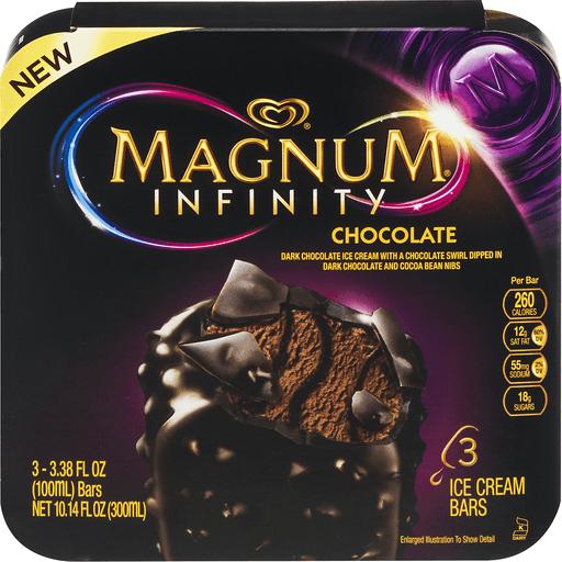 Magnum Ice Cream Bars Infinity Chocolate - 3 CT