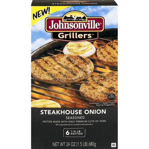 Johnsonville Grillers Patties, Steakhouse Onion Seasoned