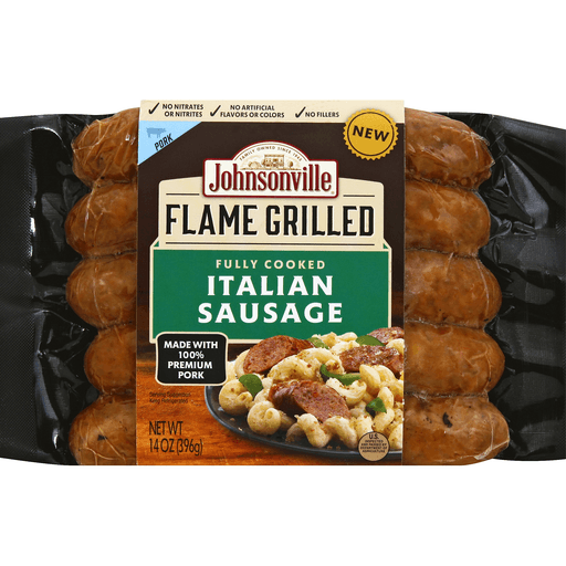 Johnsonville Flame Grilled Sausage, Italian, Pork
