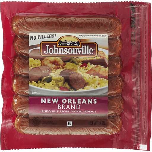 Johnsonville Smoked Sausage, Andouille Recipe, New Orleans Brand