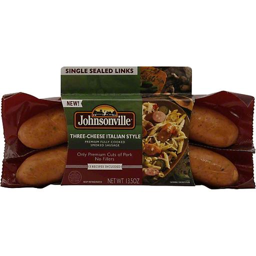Johnsonville Smoked Sausage, Three Cheese, Italian Style