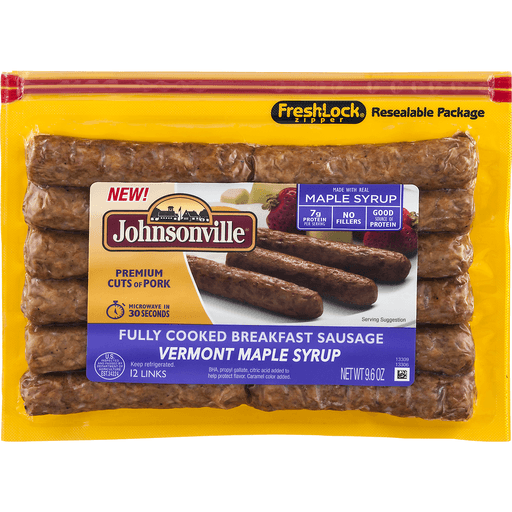 Johnsonville Breakfast Sausage, Vermont Maple Syrup