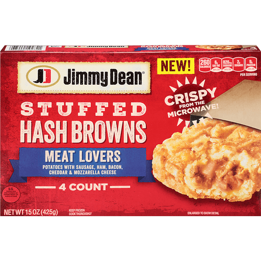 Jimmy Dean Hash Browns, Stuffed, Meat Lovers
