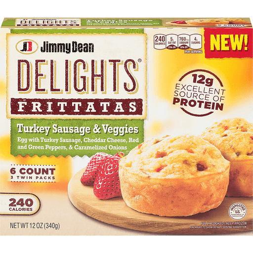 Jimmy Dean Delights Frittatas, Turkey Sausage & Veggies, Twin Packs