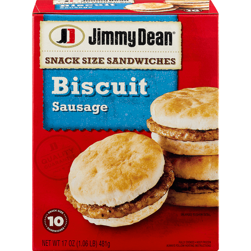 Jimmy Dean® Snack Size Sausage Biscuit Sandwiches, 10 Count (Frozen)