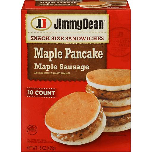 Jimmy Dean Snack Size Sandwiches Maple Pancake Maple Sausage - 10 CT