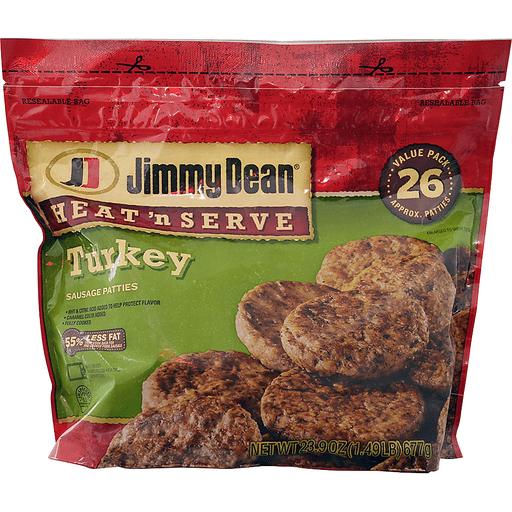 Jimmy Dean® Heat 'N Serve Turkey Sausage Patties, 26 Count
