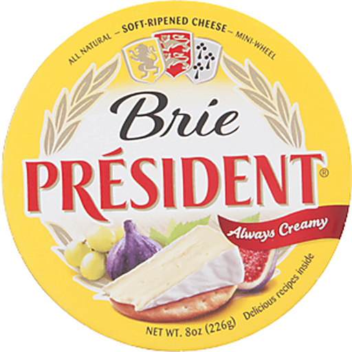 President Cheese, Soft-Ripened, Brie