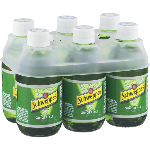 Schweppes Ginger Ale, 10 Fl Oz Glass Bottles, 6 Pack