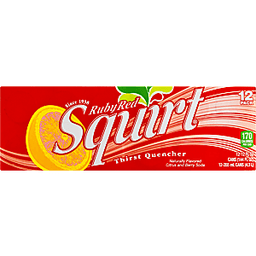 Ruby red squirt soda idea you