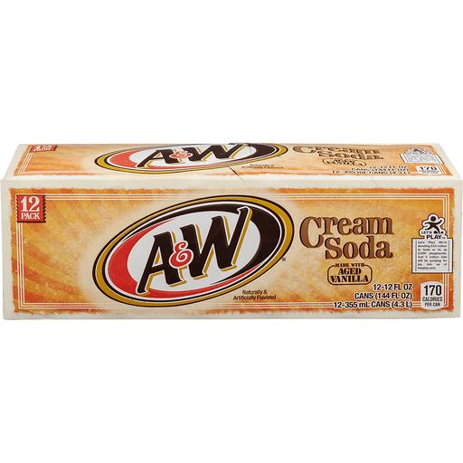 A & W Cream Soda, 12 Pack