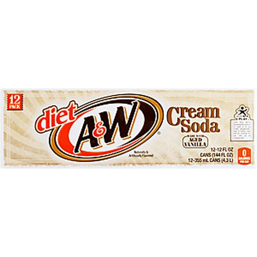 A & W Cream Soda, Diet, 12 Pack