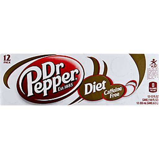Dr Pepper Soda, Diet, Caffeine Free