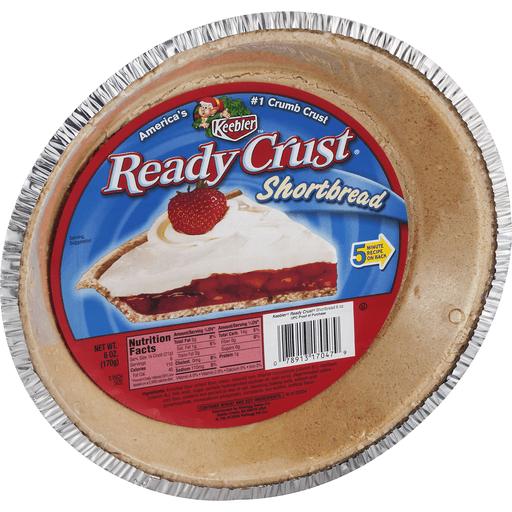 Keebler Ready Crust Pie Crust, Shortbread, 9 Inch