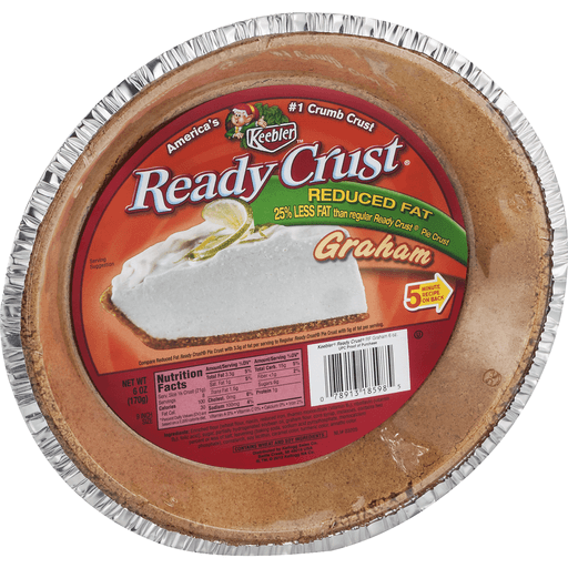 Ready Crust Pie Crust, Graham, Reduced Fat, 9 Inch Size