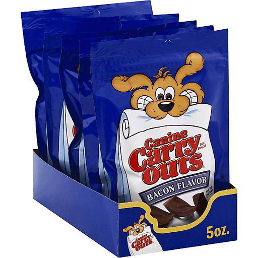 Canine Carry Outs Dog Snacks Bacon Flavor