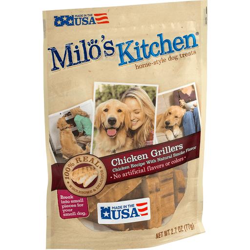 Milo's Kitchen Home-Style Dog Treats Chicken Grillers Recipe