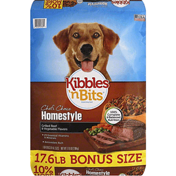 Kibbles N Bits Chef's Choice Dog Food, Homestyle, Grilled Beef & Vegetable Flavors, Bonus Size