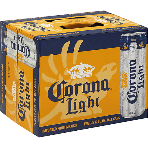 Corona Light Beer, Tall Cans