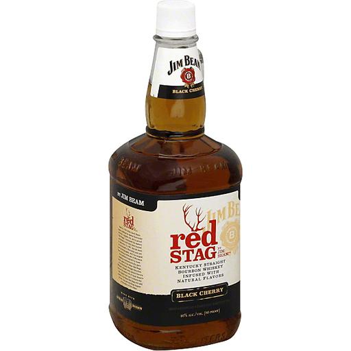 Jim Beam Red Stag Kentucky Straight Bourbon Whiskey, Black Cherry