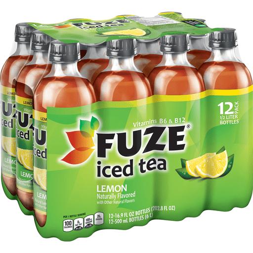 Fuze Iced Tea Lemon Bottles, 16.9 fl oz