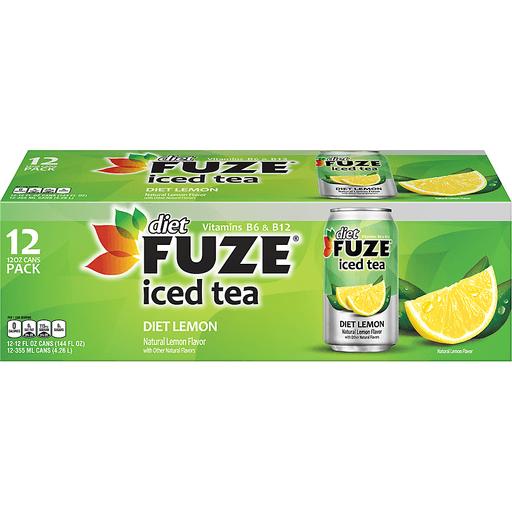 Diet Fuze Iced Tea Diet Lemon - 12 PK