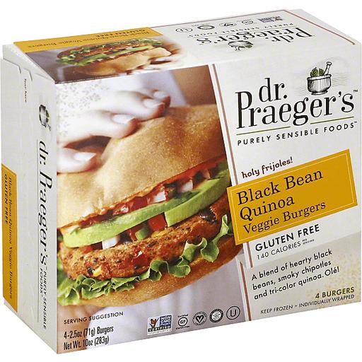 Dr. Praeger's Purely Sensible Foods Black Bean Quinoa Veggie Burgers - 4 CT