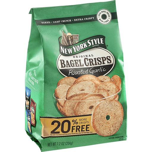 New York Style Bagel Crisps, Roasted Garlic