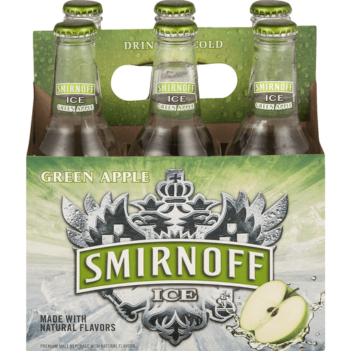 Smirnoff Ice Malt Beverage, Premium, Green Apple Bite