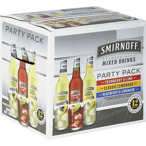 Smirnoff Mixed Drinks, Premium Malt, Party Pack
