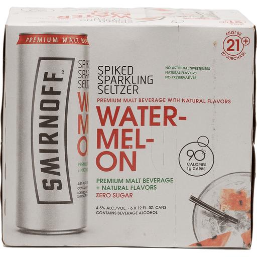 Smirnoff Sparkling Seltzer, Spiked, Watermelon