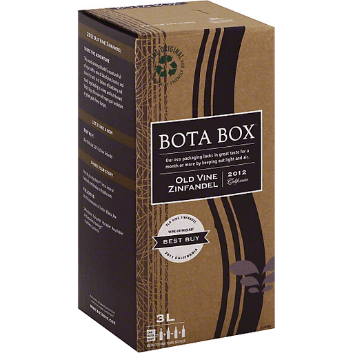 Bota Box Zinfandel, Old Vine, California, 2012
