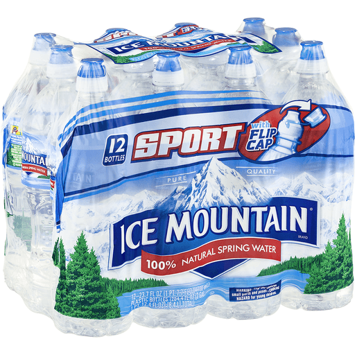 Ice Mountain Water, 100% Natural Spring, Sport