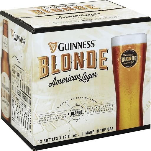 Guinness Beer, American Lager, Blonde