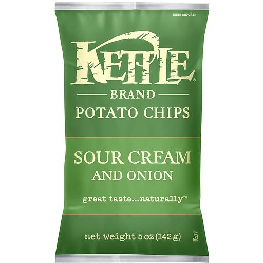 Kettle Brand® Sour Cream and Onion Potato Chips 5 oz. Bag