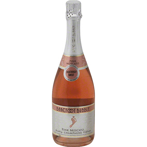 Barefoot Bubbly Champagne, Sparkling, Pink Moscato, California