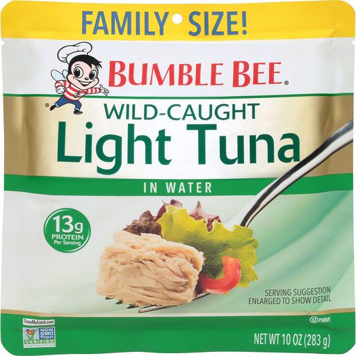 Bumble Bee Tuna, Light, in Water, Family Size | Shop | D ...