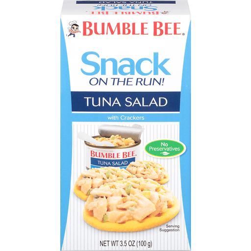Bumble Bee Snack On The Run Tuna Salas With Crackers