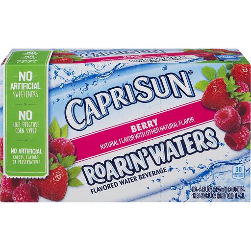 Capri Sun Roarin' Waters Flavored Water Beverage, Berry