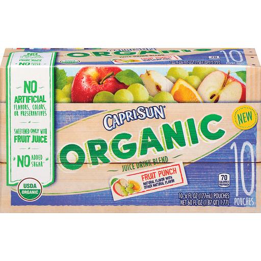 Capri Sun Juice Drink Blend, Organic, Fruit Punch