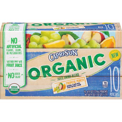 Capri Sun Juice Drink Blend, Organic, Tropical Punch