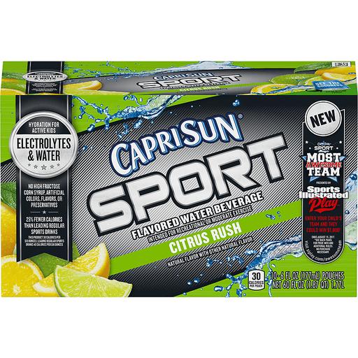 Capri Sun Sport Flavored Water Beverage Citrus Rush - 10 PK