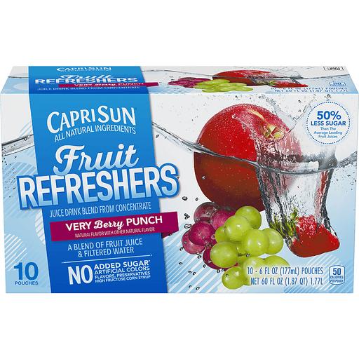 Capri Sun Fruit Refreshers Juice Very Berry Punch - 10 CT